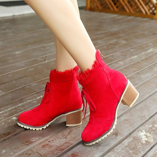 Ericdress Fashion Lace-Up Platform Women's Ankle Boots