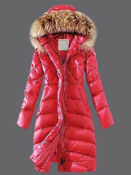 Ericdress Faux Fur Hooded Long Warm Thicken Women's Winter Overcoat