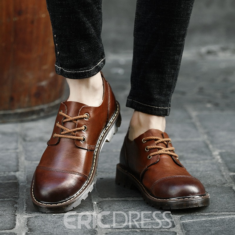Ericdress Fashion Round Toe Plain Mens Oxfords