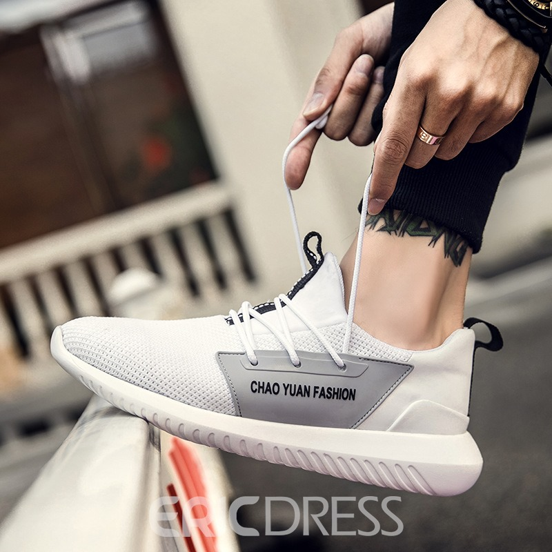 Ericdress Comfy Breathable Color Block Men's Athletic Shoes