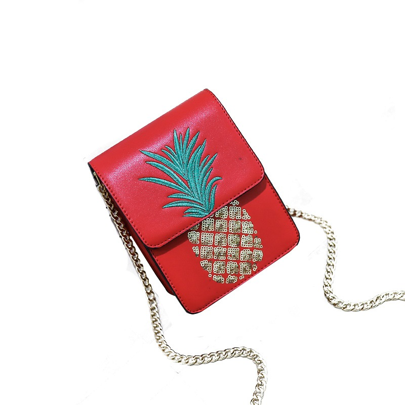 Ericdress Embroidery Beads Pineapple Pattern Crossbody Bag