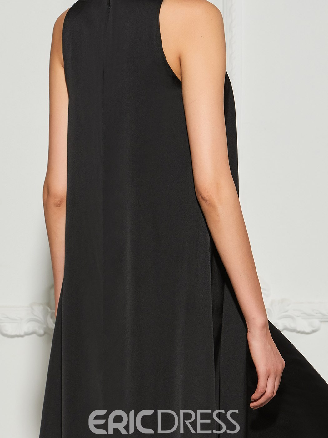 Ericdress A Line Deep Neck Beaded Prom Jumpsuit With Train