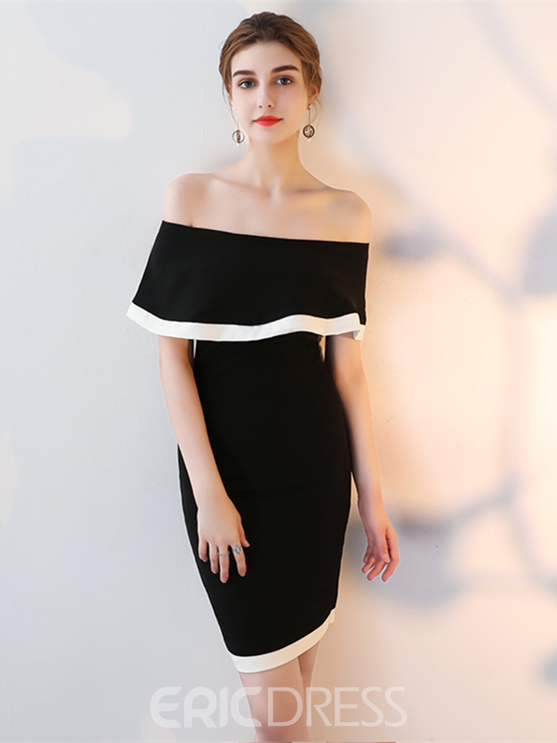 Ericdress Sheath Off The Shoulder Short Bodycon Homecoming Dress