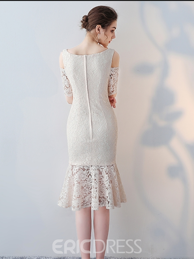 Ericdress Sheath Short Sleeve Lace Bodycon Homecoming Dress