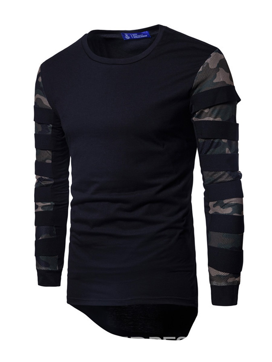 Ericdress Unique Patched Long Sleeve Casual Men's T-Shirt