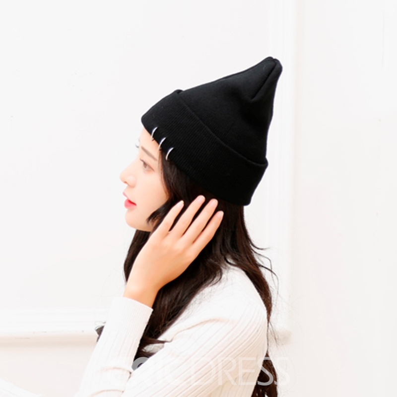 Ericdress Cozy&Warm Black All Match Women's Hat