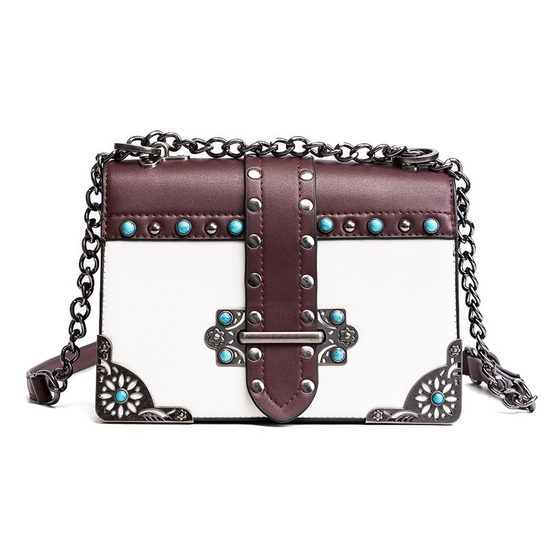 Ericdress Personality Rivet Decoration Women Crossbody Bag
