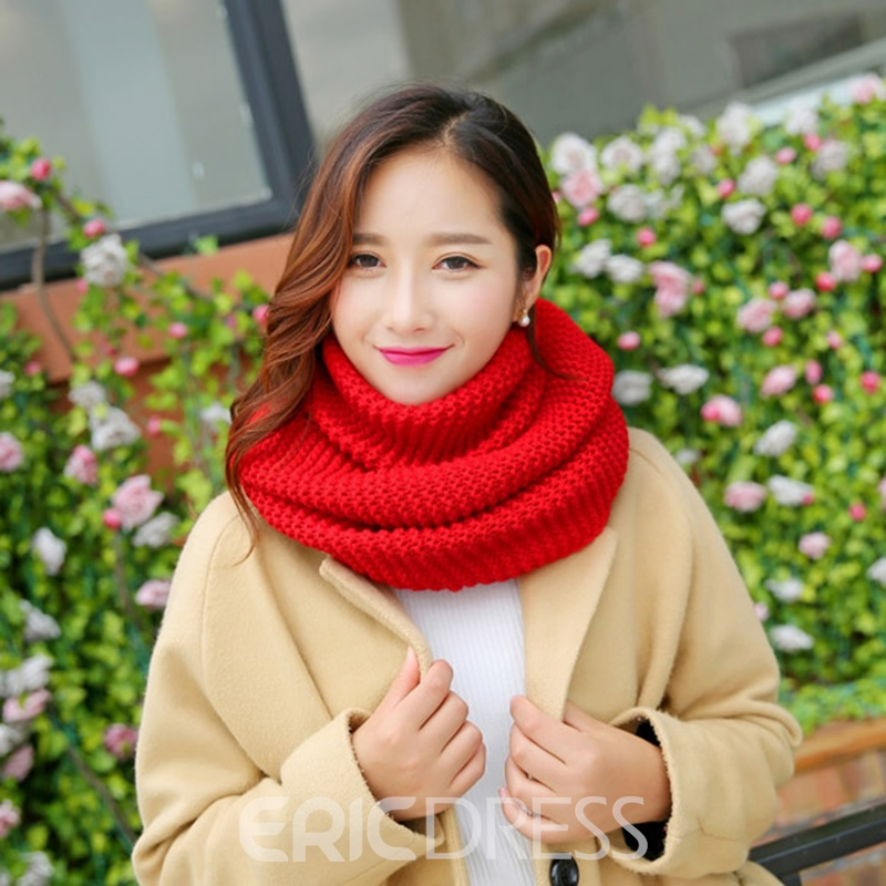 Ericdress Pure Color High Quality Knitting Wool Thicken Women's Scarf