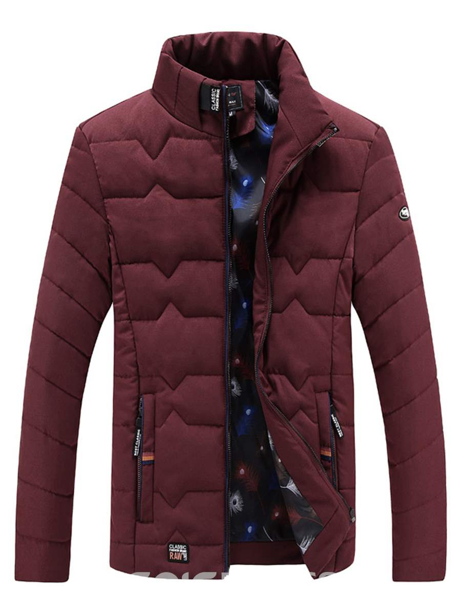 Ericdress Plain Slim Men's Winter Coat