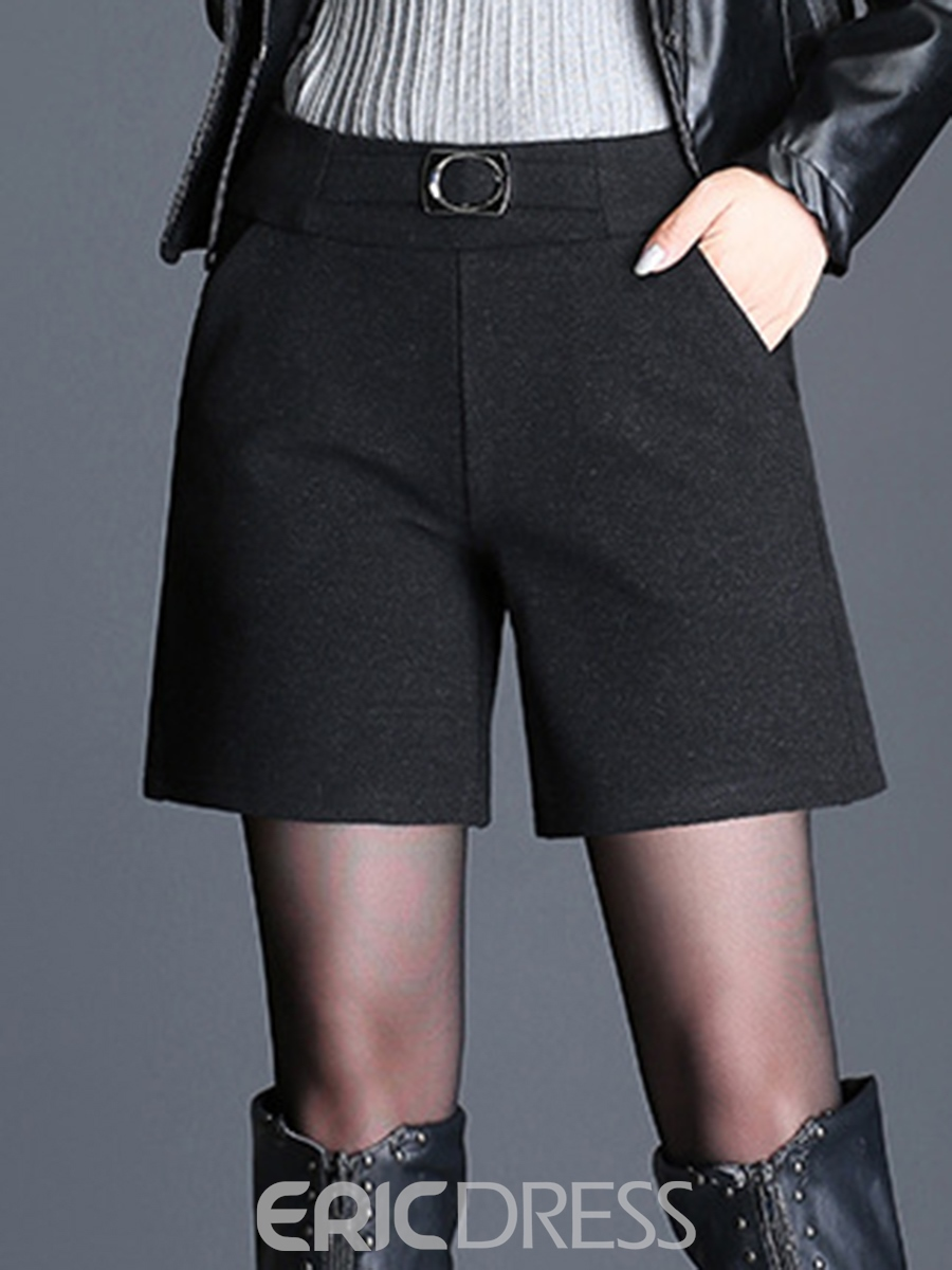 Ericdress High-Waist Thick Women's Winter Shorts