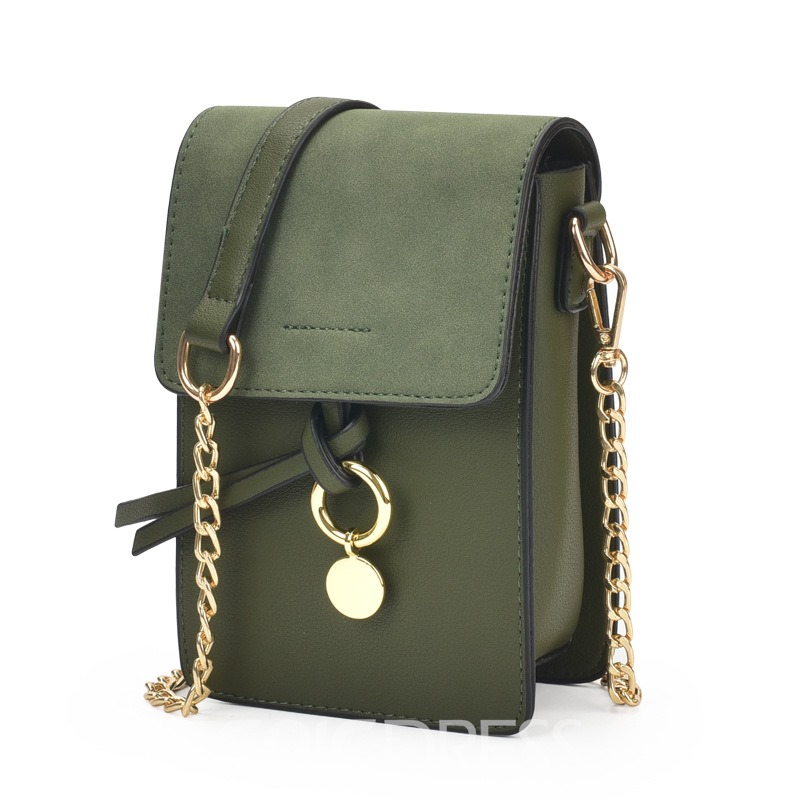 Ericdress Casual Solid Color Mini Crossbody Bag