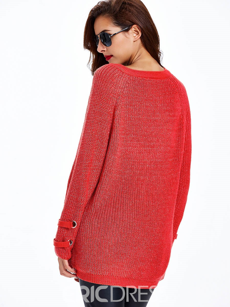 Ericdress Sisjuly Cross Strap Loose Knitwear