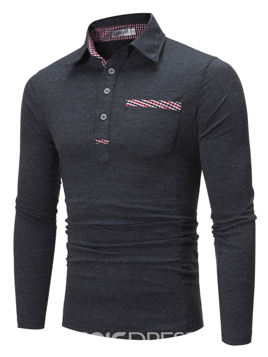 Ericdress Long Sleeve Polo Casual Men's T-Shirt