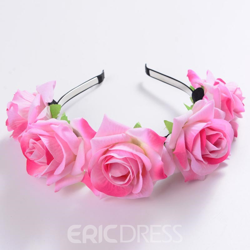 Ericdress Hot Imitation Rose Flower Hair Accessories for Women