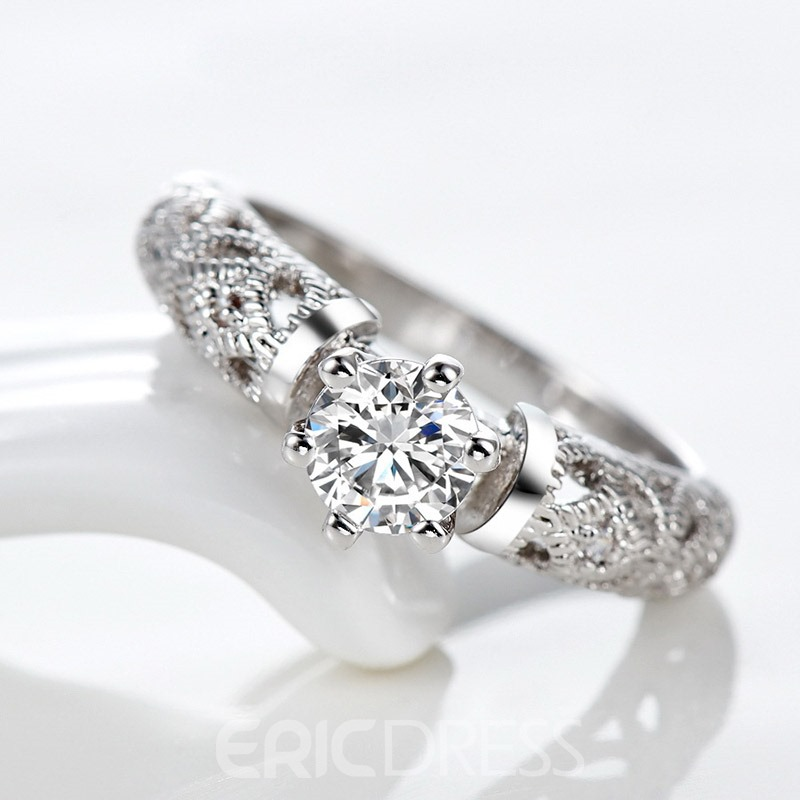 Ericdress Hollow Out Retro Style Women's Wedding Ring