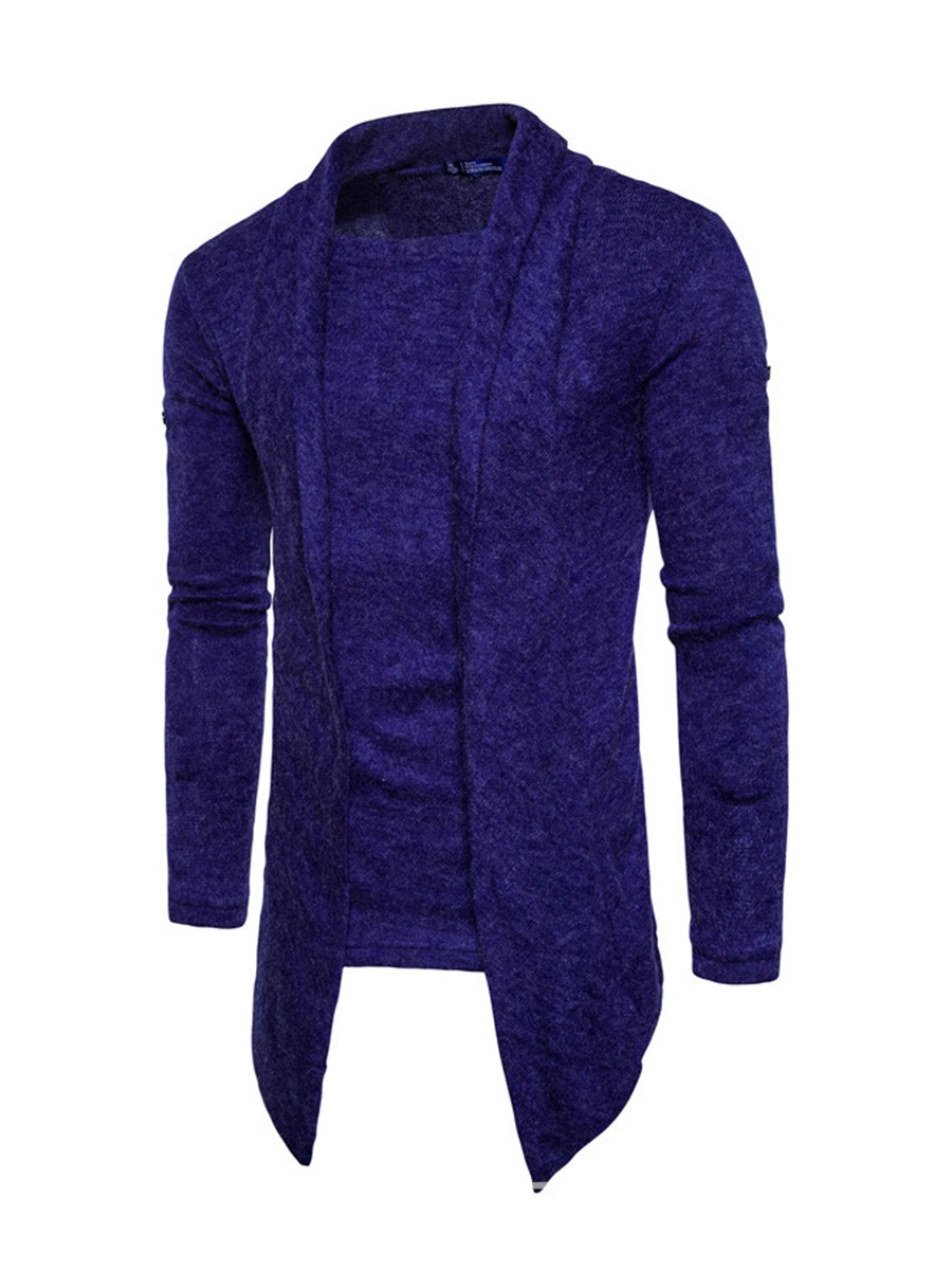 Ericdress Plain Lapel Vogue Slim Men's Cardigan Sweater