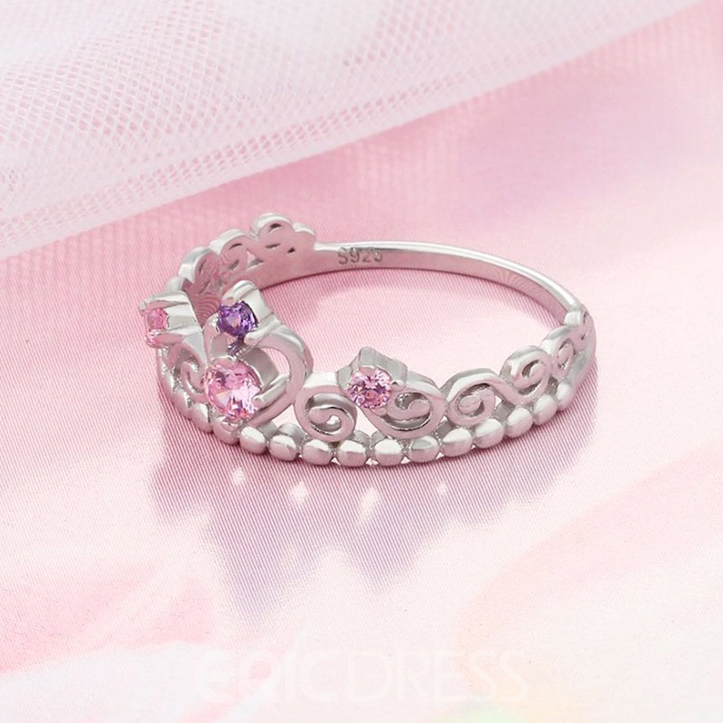 Ericdress Sweet Romantic Crown Wedding Ring for Women