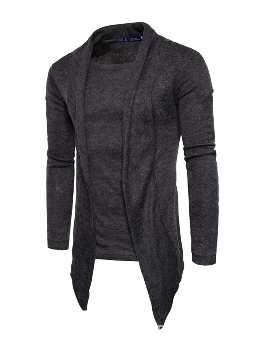 Ericdress Plain Lapel Vogue Slim Men's Cardigan Sweater 12996513 ...