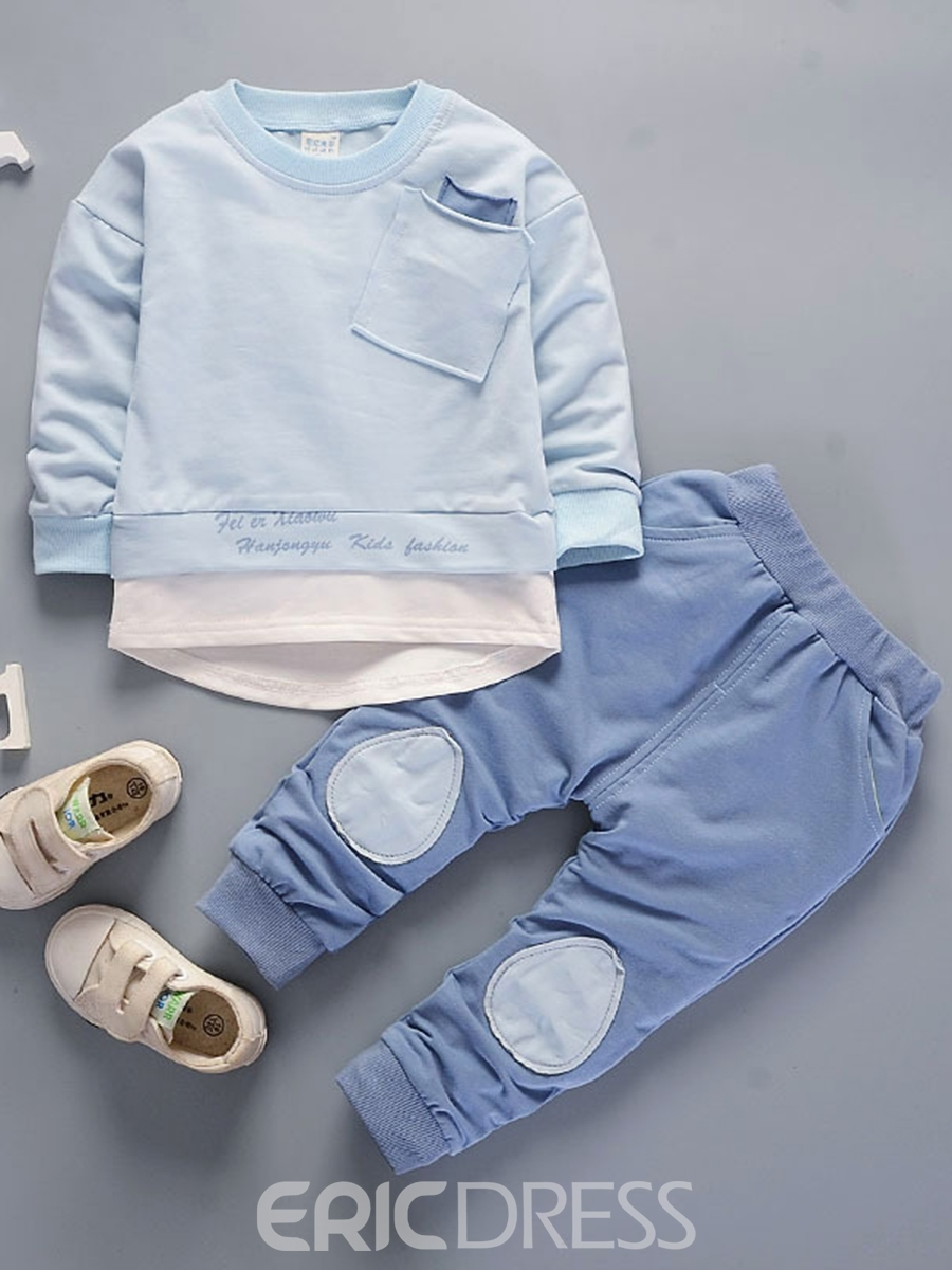 Ericdress Long Sleeve & Pant Patchwork Baby Boy's Outfit