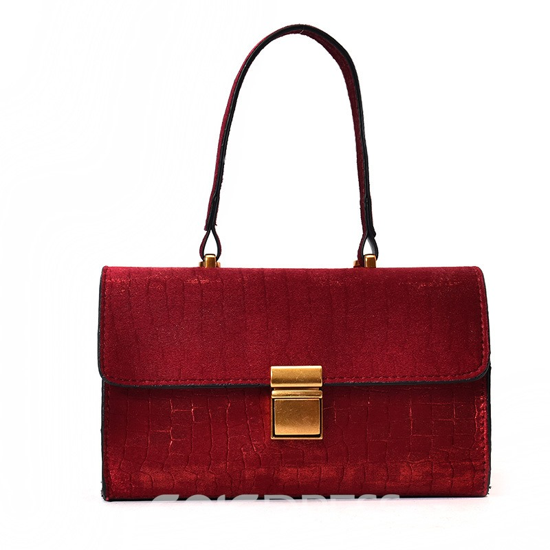 Ericdress Graceful Latch Decoration Velvet Women Handbag