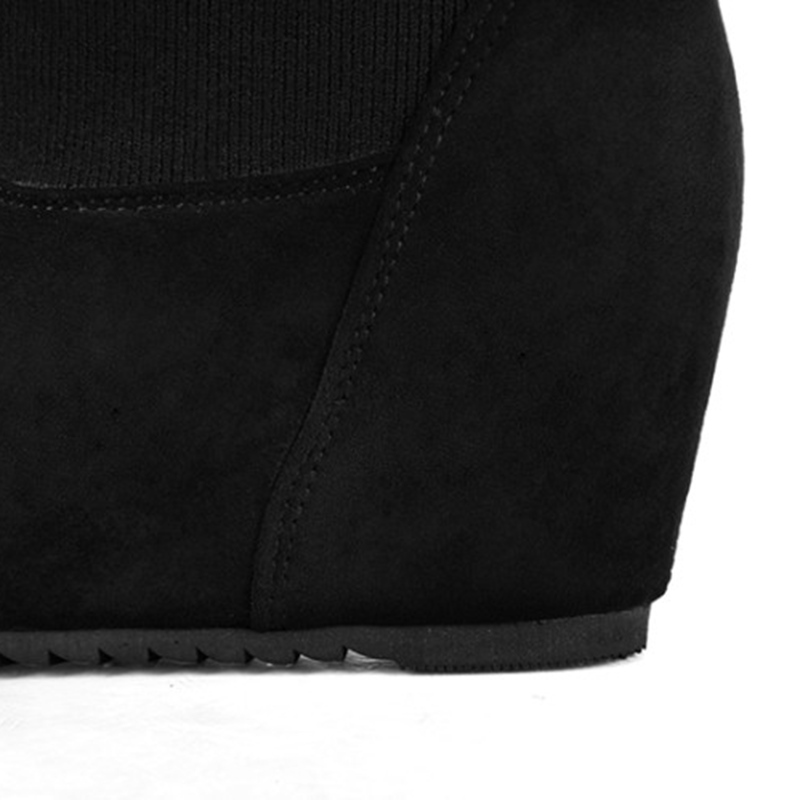 Ericdress Letter Slip-On Hidden Elevator Heel Sock Boots