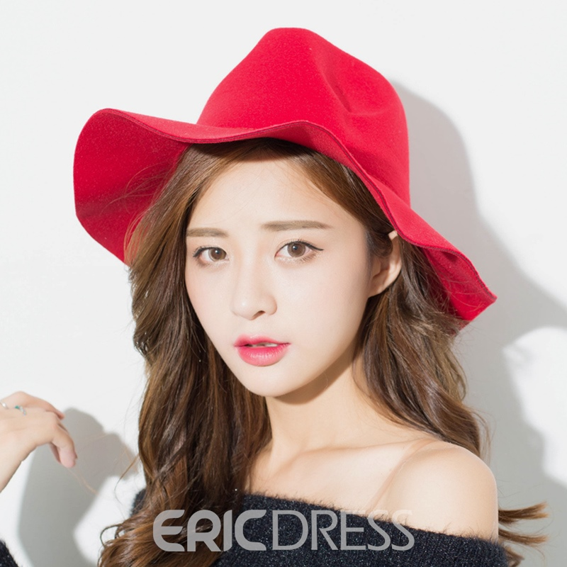Ericdress Stylish British Style Pure Color Women's Hat