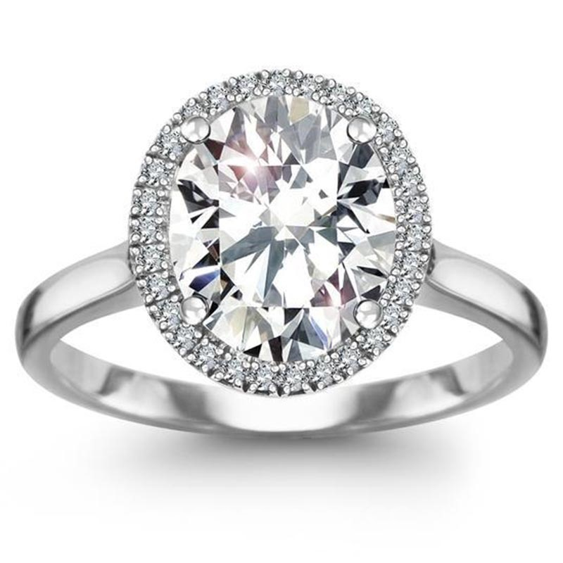 MarkChic Artistic Oval Cut Women's Engagement Ring