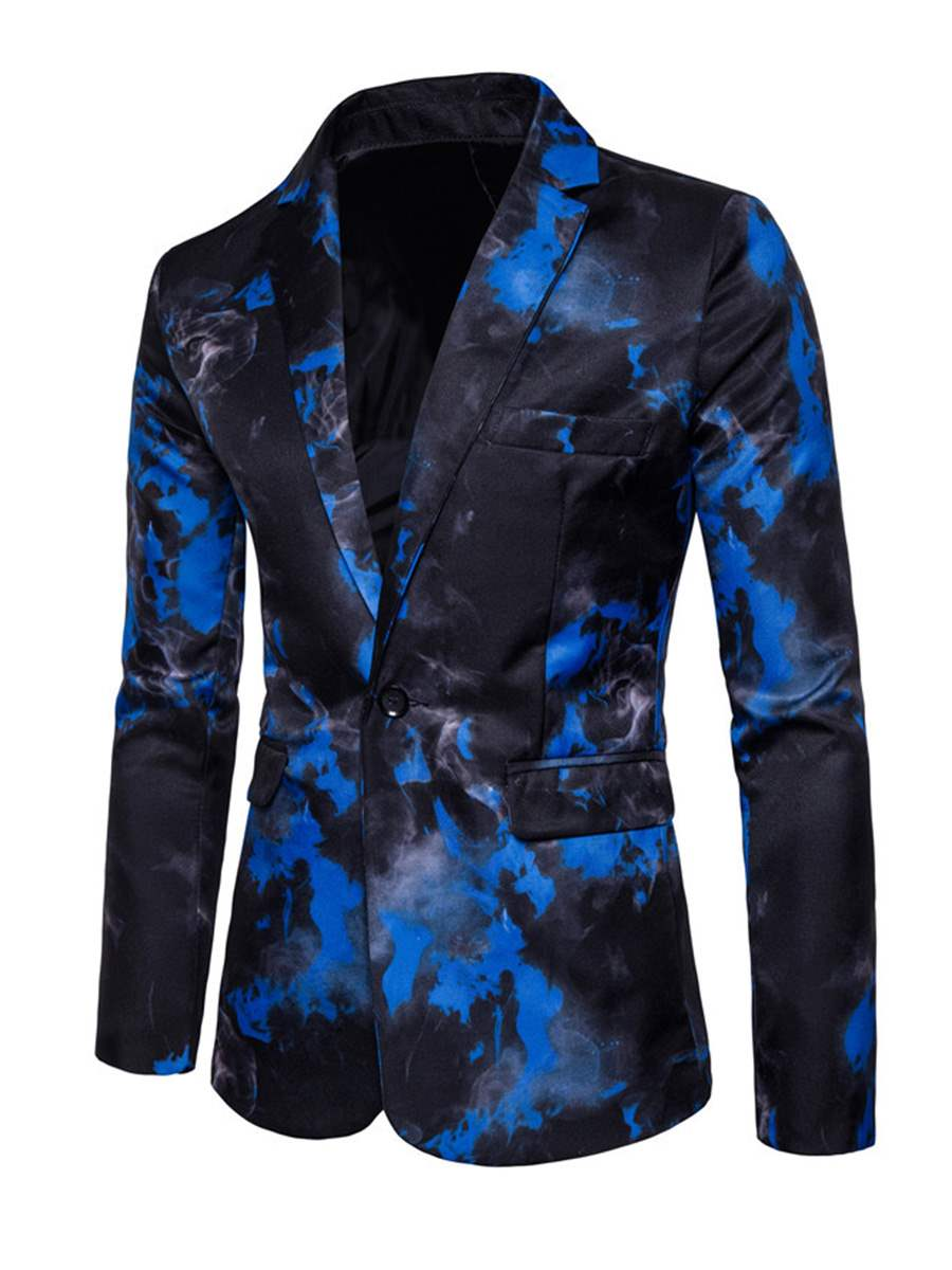Ericdress Floral Print Vogue Slim Men's Blazer Jacket