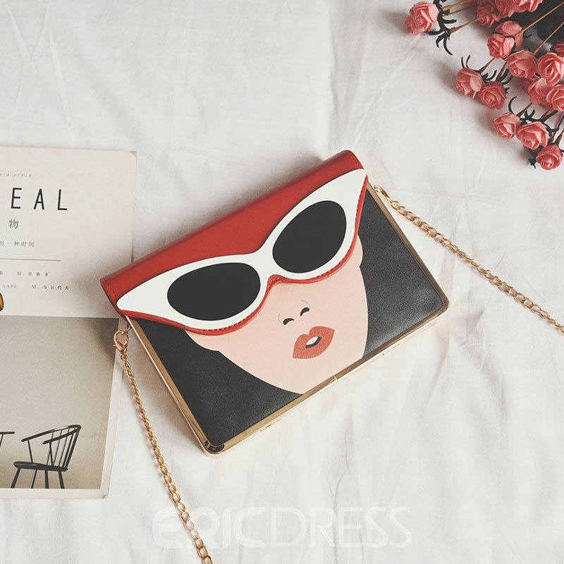 Ericdress Personality Character Design Chain Crossbody Bag