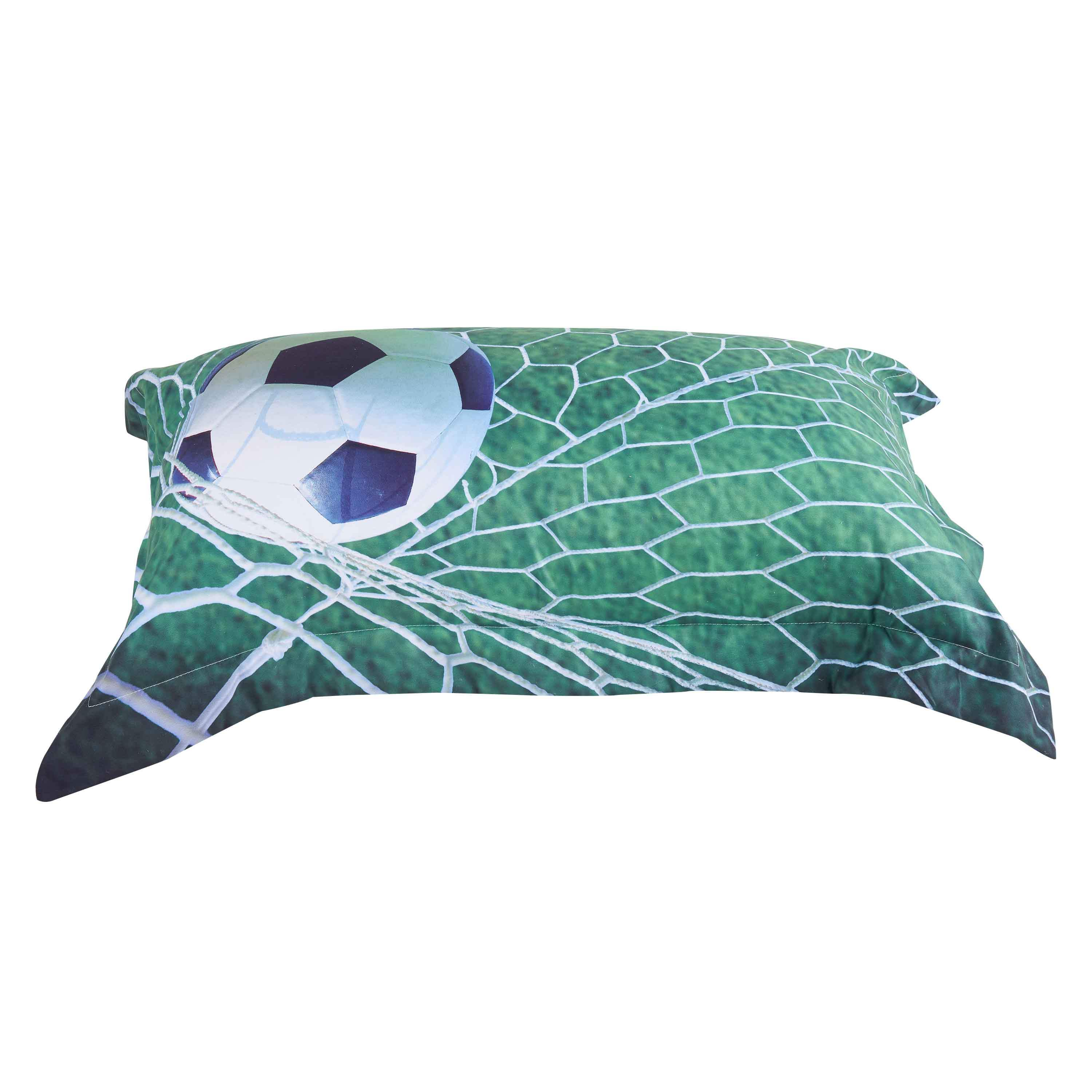 Vivilinen Soccer Ball in front of Goal Printed 3D 4-Piece Bedding Sets/Duvet Covers