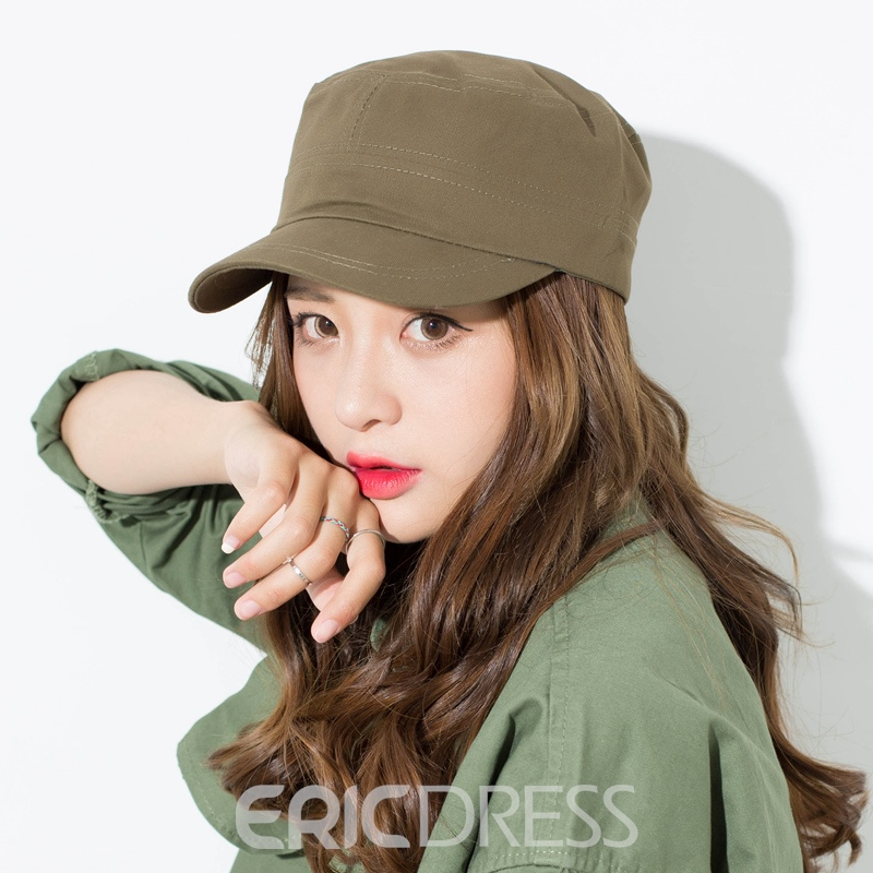 Ericdress Solid Color Cotton All Match Peaked Cap