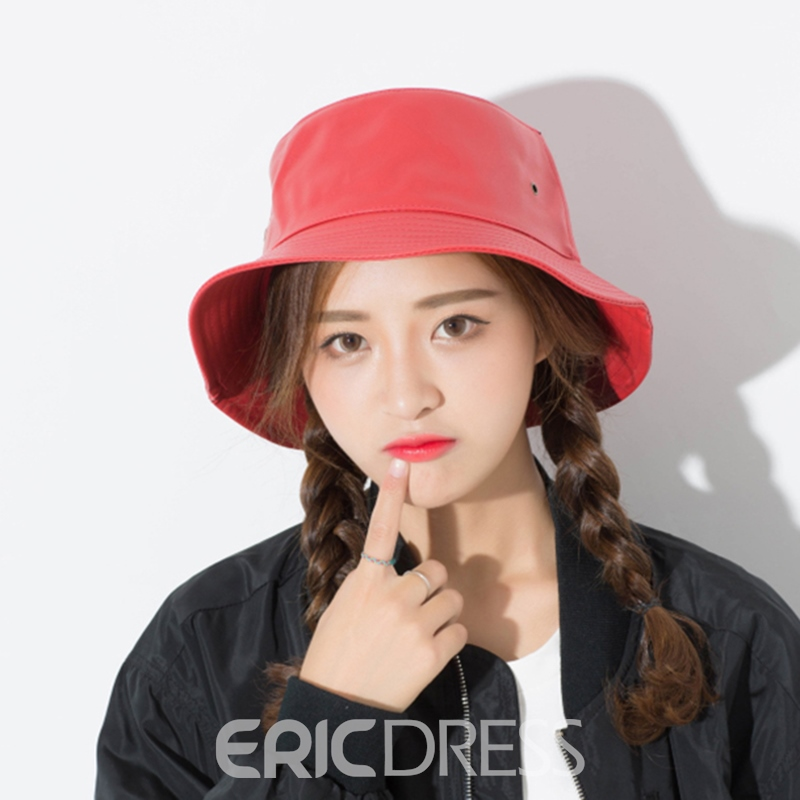 Ericdress Charming Soild Color All Match Bucket Hat