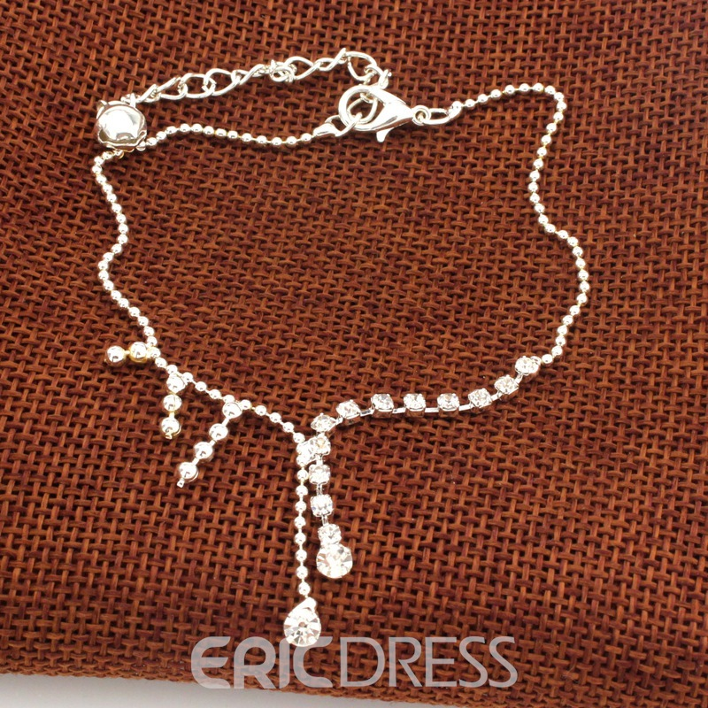 Ericdress Fancy Rhinestone Tassel Anklet for Women
