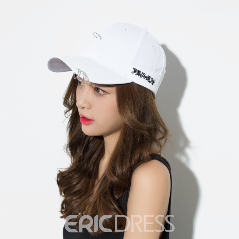 Ericdress Stylish Pin Decorated Pure Color Peaked Cap for Women