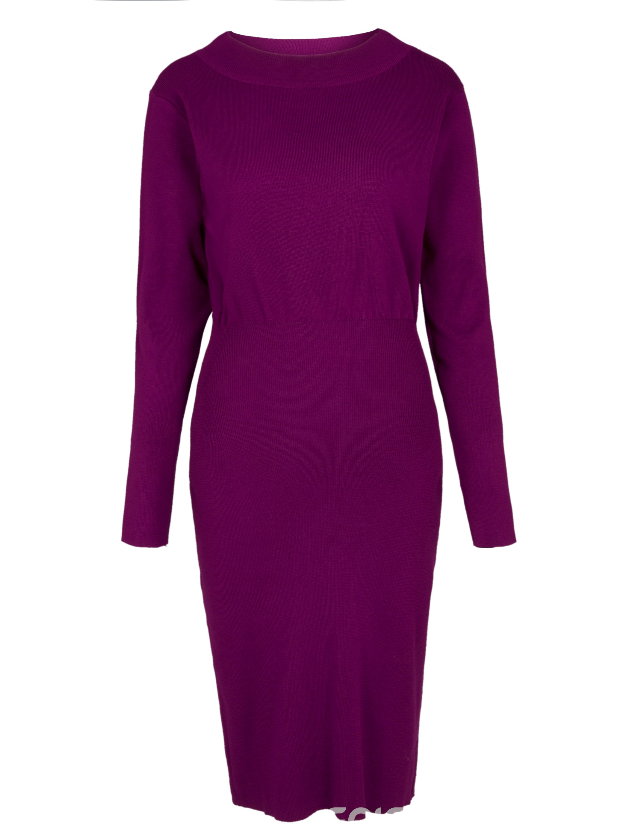 Ericdress Solid Color Long Sleeves Bodycon Dress