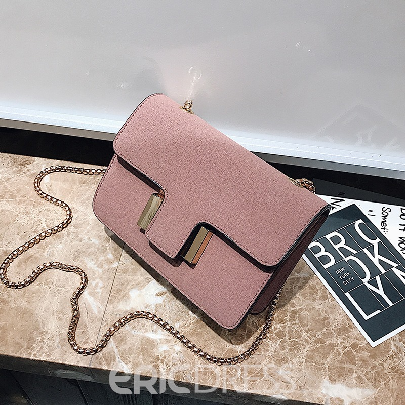 Ericdress Korean Style Solid Color Matting Crossbody Bag