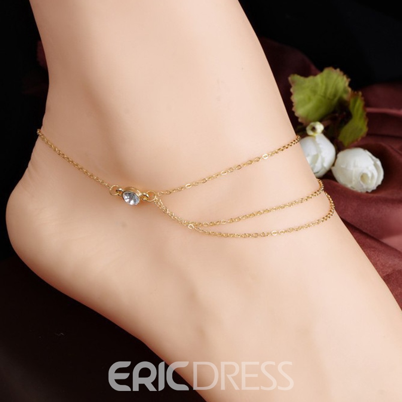 Ericdress All Match Diamante Mulitlayer Tassel Women's Anklet