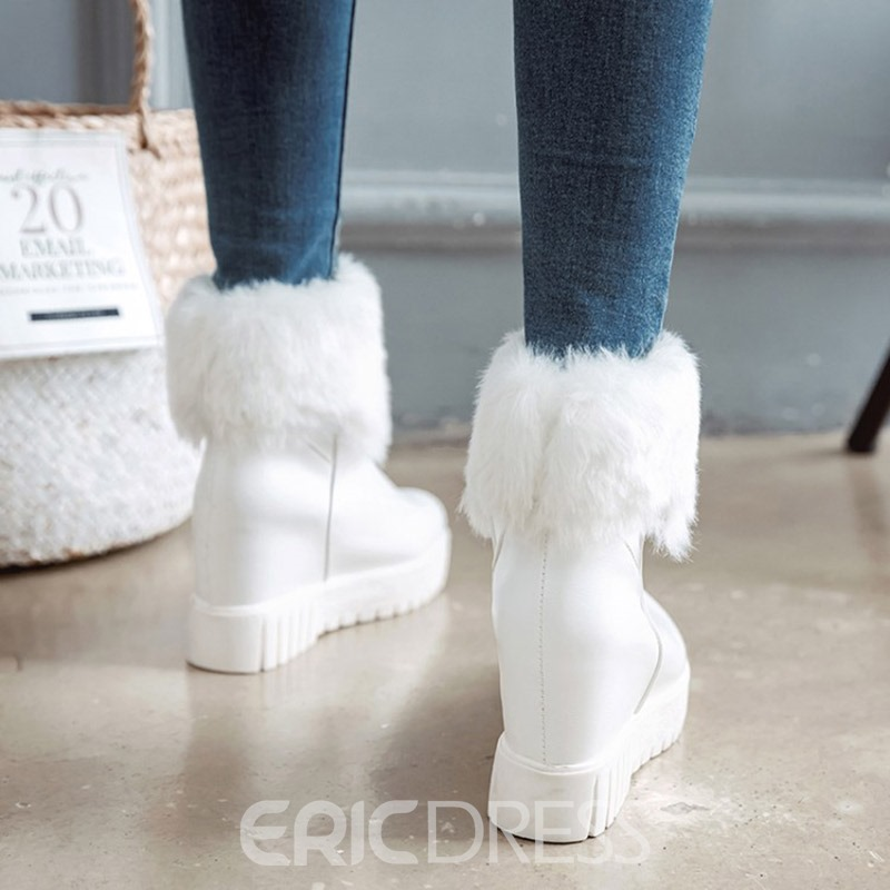 Ericdress Warm Fuzzy Plain Slip-On Women's Boots