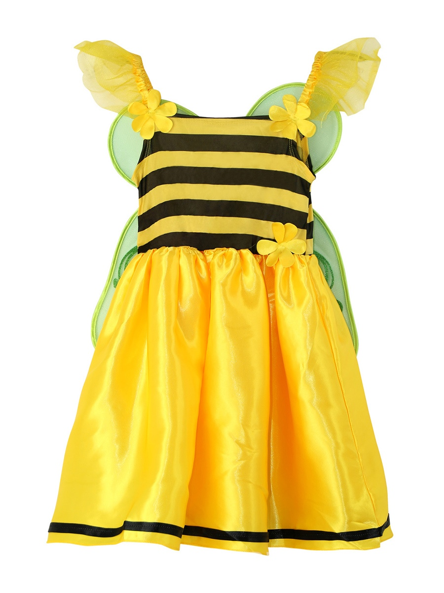 Ericdress Halloween Butterfly Fairy Cosplay Stripe Patchwork Part Dress Girls Costume