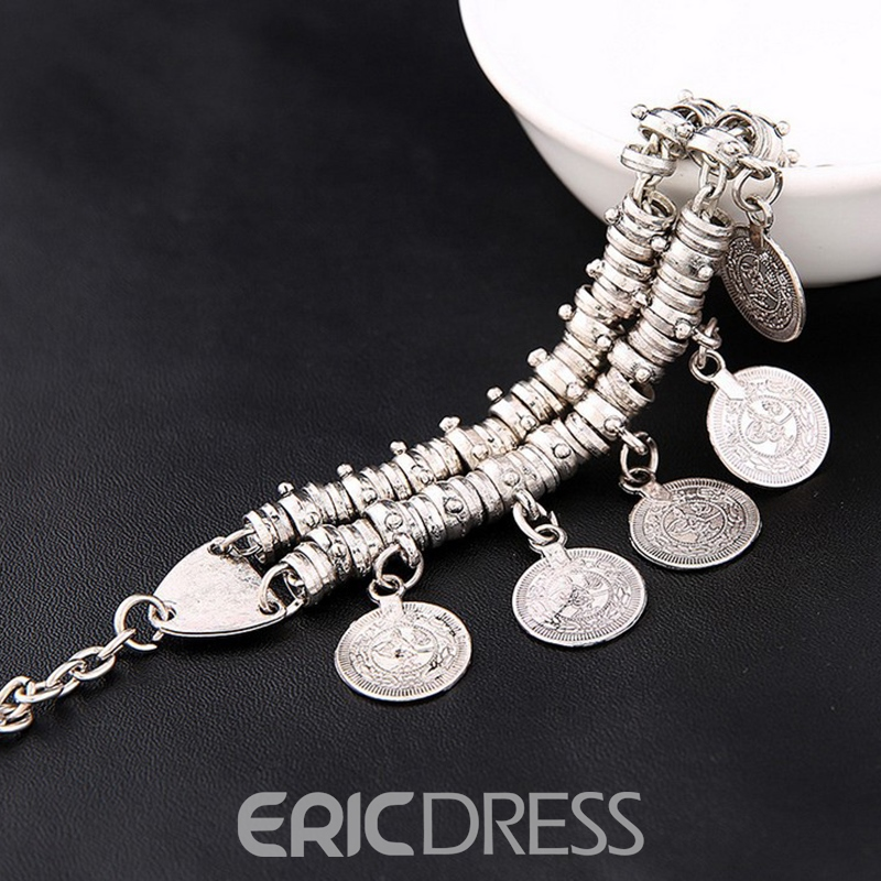 Ericdress Bohemia Style Coin Short Anklet for Women