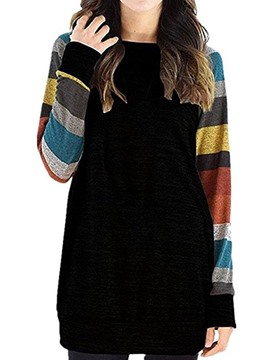 Ericdress Stripe Mid-Length Loose T-shirt