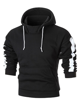 Ericdress Plain Hooded Pullover Casual Slim Men's Hoodie