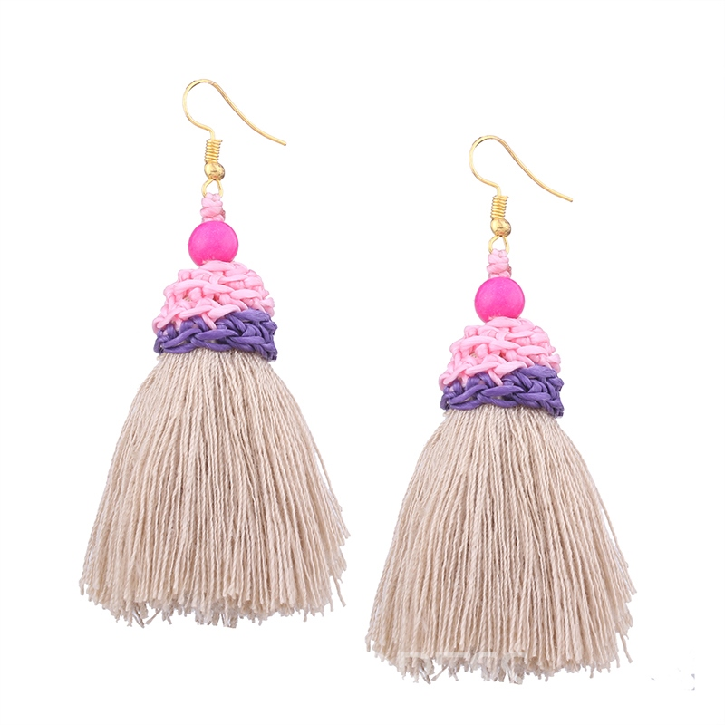 Ericdress Chic Tassel Bead Womens Fashion Earring