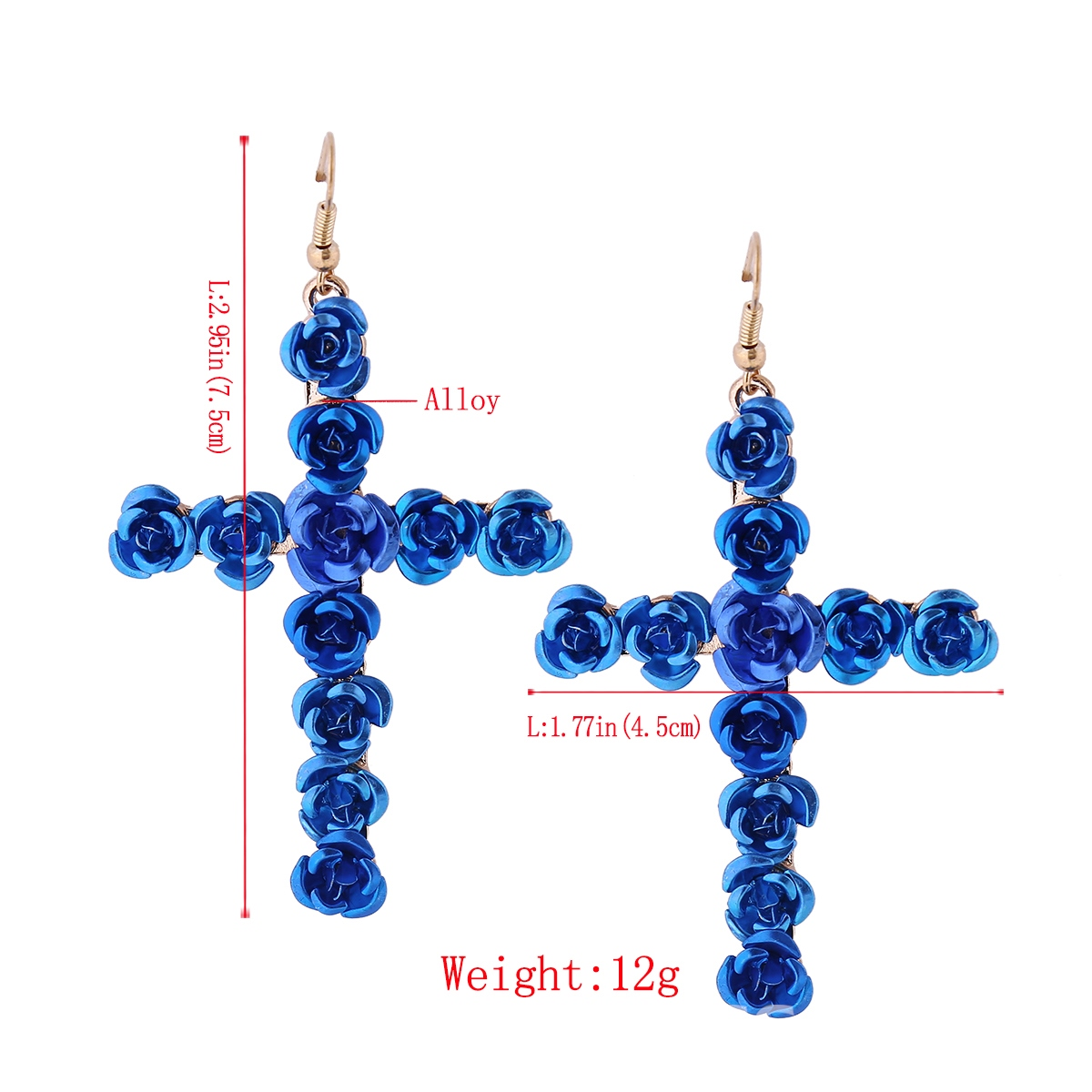 Ericdress Candy Color Rose Decorated Women's Drop Earring