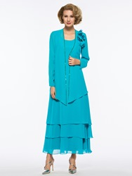 Ericdress Tiered Ankle Length Mother of The Bride Dress with Jacket фото