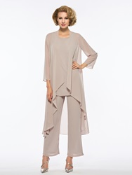 Ericdress Loose 3 Pieces Long Sleeves Mother of The Bride Pantsuits фото