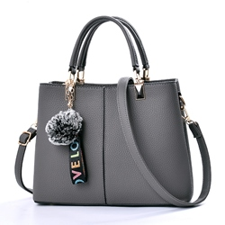 Ericdress Casual Balls Pendant Solid Color Handbag