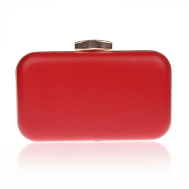 Ericdress Solid Color Latch Design PU Clutch