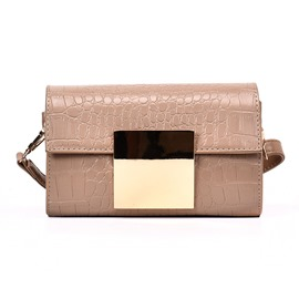 Ericdress Korean Style Croco-Embossed Crossbody Bag