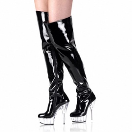 Ericdress Sexy Platform Clear Stiletto Heel Thigh High Boots